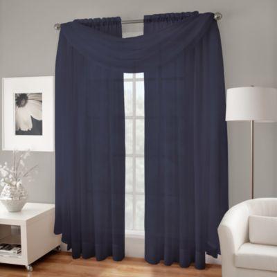 Indigo Blue Window Valance