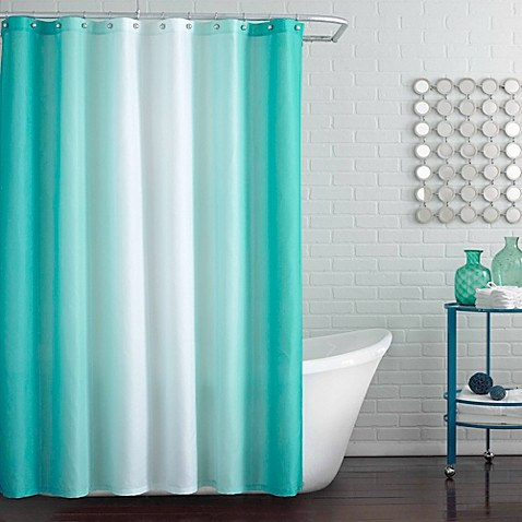 Blaire Shower Curtain In Peacock Blue Bed Bath Beyond