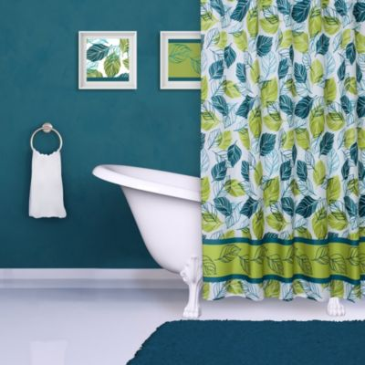 Falling Leaves Print Shower Curtain