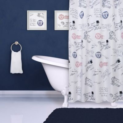 Script Print Shower Curtain