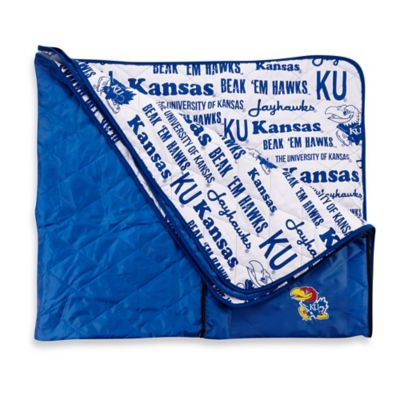 University of Kansas Indoor/Outdoor Throw Blanket