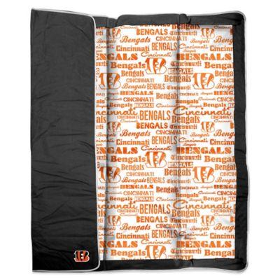 NFL Cincinnati Bengals Indoor/Outdoor Throw Blanket