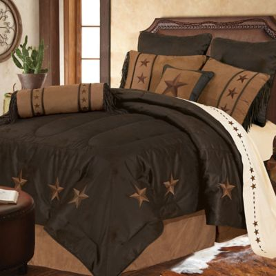 HiEnd Accents Laredo 5-Piece King Comforter Set in Chocolate