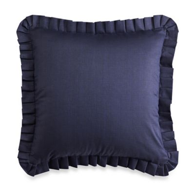 Blue Quilted European Pillow Shams