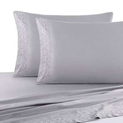 J. Queen New York™ Luxembourg California King Sheet Set in Antique Silver