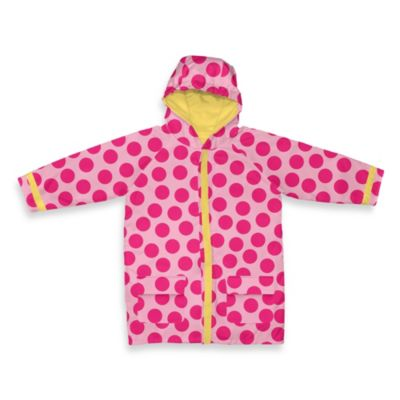 i play® Child Midweight Raincoat in Pink Dot (3-4T)