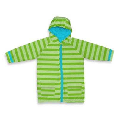 i play® Child Midweight Raincoat in Lime Stripe (3-4T)