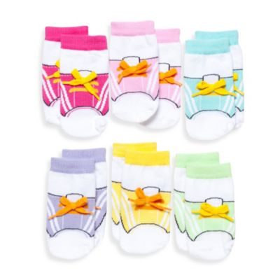 Elegant Baby 6-Pack Gym E Socks