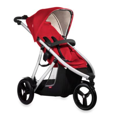 phil&teds® Vibe™ Single Stroller in Cherry Red
