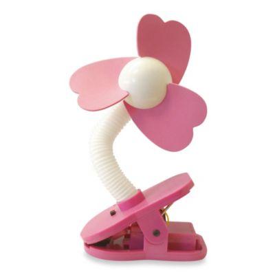 Dreambaby Clip-On Stroller Fan in White/Pink