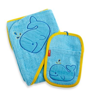 Blue Towel & Mitt Set