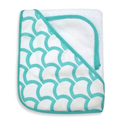 TL Care® Organic Terry Hooded Towel Set in Aqua