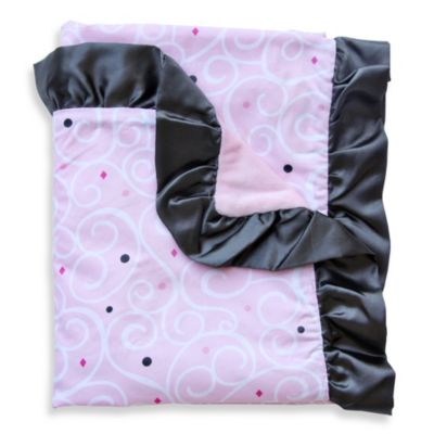 Caden Lane® Luxe Swirl Ruffle Blanket in Light Pink