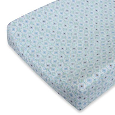 Caden Lane® Modern Vintage Octagon Changing Pad Cover in Blue