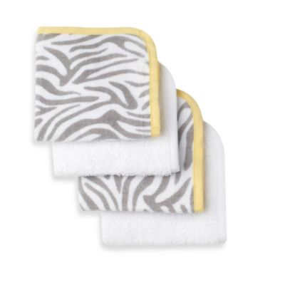 Just Born® Welcome to the Circus 4-Pack Woven Washcloth in Neutral