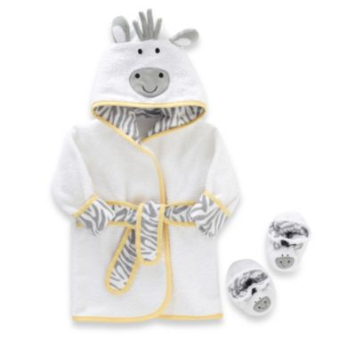 Just Born® Newborn to 9 Months Welcome to the Circus Robe & Booties Set in Neutral
