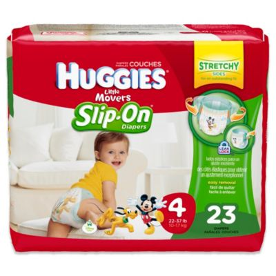Huggies® Little Movers Slip-On 23-Count Size 4 Jumbo Pack Diapers