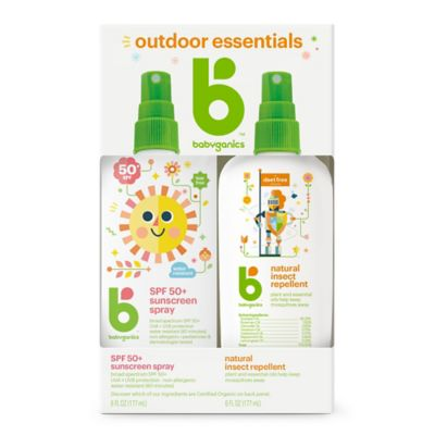 Babyganics® 2-Pack Mineral-based Sunscreen Spray + Natural Insect Repellent