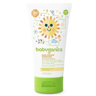 Babyganics® 4 oz. 30 SPF Pure Mineral Sunscreen