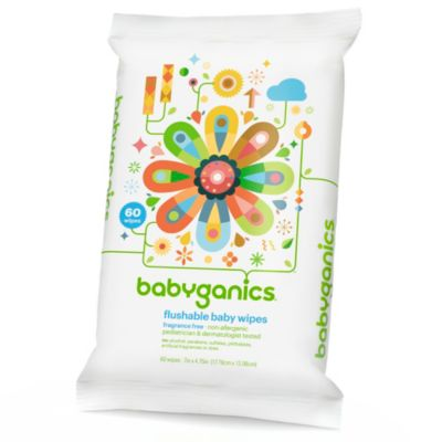 Babyganics® Thick N' Kleen 60-Count Flushable Wipes