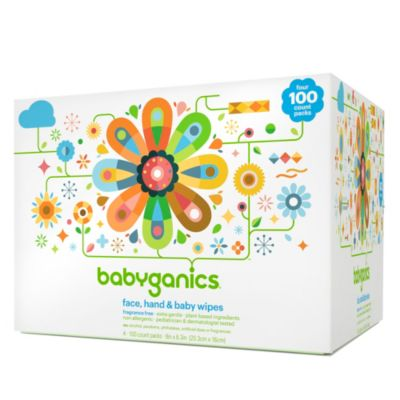 Babyganics® Fragrance-Free 400-Count Face, Hand and Baby Wipes