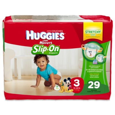 Huggies® Little Movers Size 3 Jumbo Pack 29-Count Slip-On® Diapers