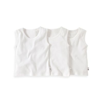 Burt's Bees Baby® Size 4T 3-Pack Organic Cotton Muscle T-Shirt in White