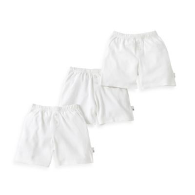 Burt's Bees Baby™ Size 2T 3-Pack Boxers in White
