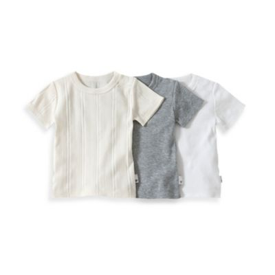 Burt's Bees Baby® Size 4T 3-Pack Organic Cotton T-Shirts in Ivory/Grey/White