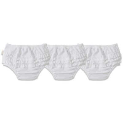 Burt's Bees Baby® Size 18M 3-Pack Ruffle Diaper Covers in Cloud
