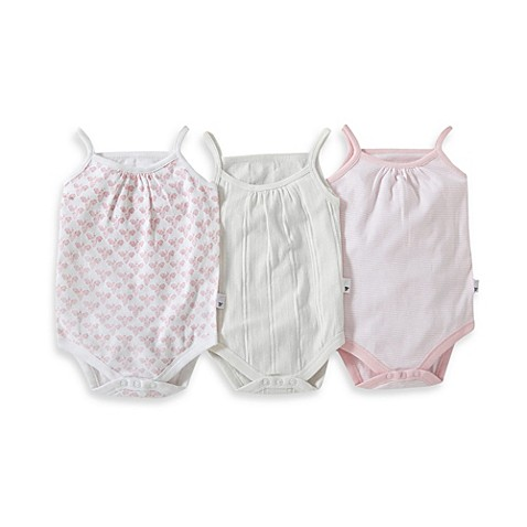Burt S Bees Baby 174 3 Pack Bodysuit Set In Pink Multicolor