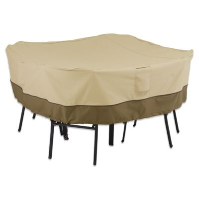 Classic Accessories Veranda Square Large-Sized Table and Chair Cover
