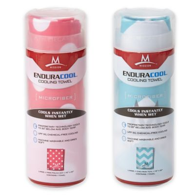 Mission EnduraCool™ Instant Cooling Towel in Pink