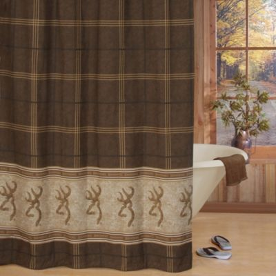 Browning Buckmark 72-Inch x 72-Inch Shower Curtain in Brown