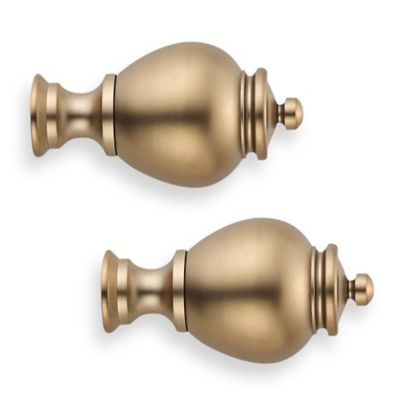 Cambria® Premier Complete® Apothecary Finial in Warm Gold (Set of 2)