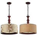 HGTV Home Nathan 3-Light Pendant in Dark Walnut