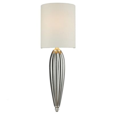 1-Light Sconce in Chrome and Silver Leaf