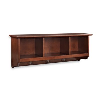 Crosley Brennan Entryway Storage Shelf in Mahogany