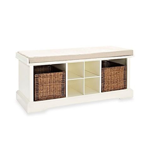 Buy Crosley Brennan Entryway Storage Bench In White From