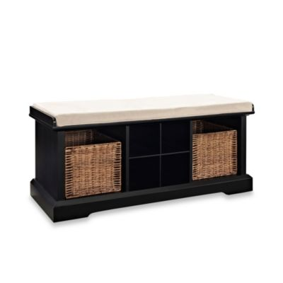 Black White Storage Bench