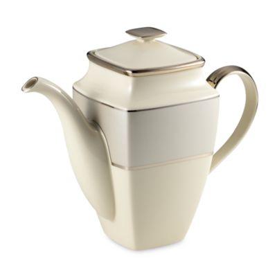 Ivory Platinum Square Coffeepot
