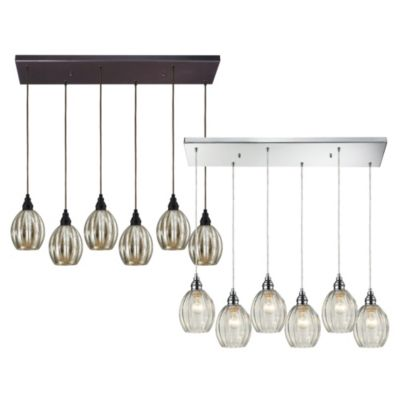 Danica 6-Light Pendant Light with Clear Glass and Polished Chrome Finish