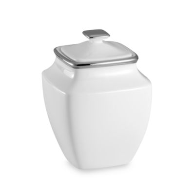 Lenox® Solitaire® White Square 4 1/2-Inch Sugar Bowl
