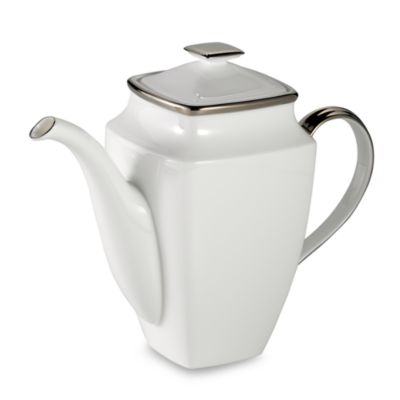 Lenox® Solitaire® White Square 58-Ounce Coffeepot