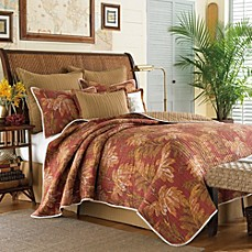 Tommy Bahama Orange Cay Quilt, 100% Cotton