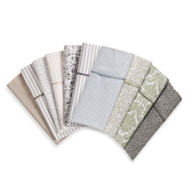 Wamsutta® 400 Thread Count Vine Printed Twin Sheet Set in Taupe
