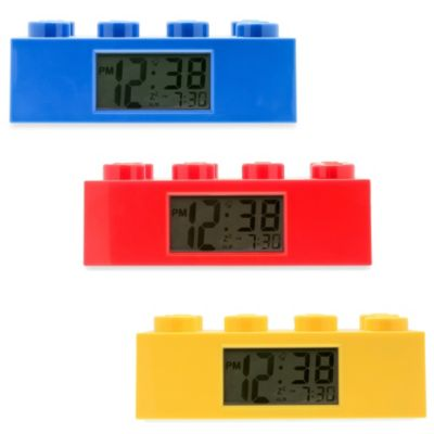 LEGO® Brick Alarm Clock in Blue