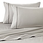 Wamsutta® 400 Thread Count Stripe Printed Twin Sheet Set in Grey