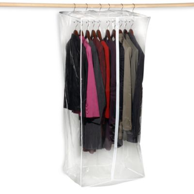 Crystal Clear Jumbo 24-Inch Vinyl Dress Closet Bag