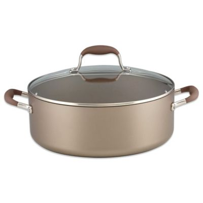 Anolon® Advanced Umber Nonstick Hard Anodized 7.5-qt. Covered Wide Stock Pot